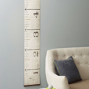 Giant Tape Measure Wall Art - height charts