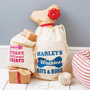 Thumb personalised pet organiser sack