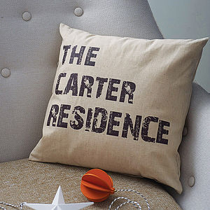 Personalised Home Cushion - gifts for families