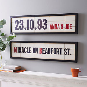 Personalised Cinema Marquee Print - for your other half