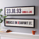 Personalised Names And Date Cinema Marquee Print