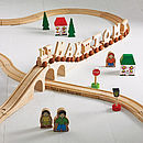 Thumb personalised wooden train track