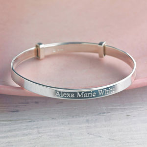 Child's Silver Expanding Bangle - gifts for babies