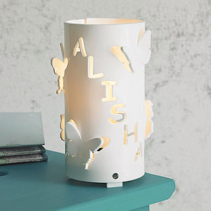 Personalised Butterfly Night Light - bedroom
