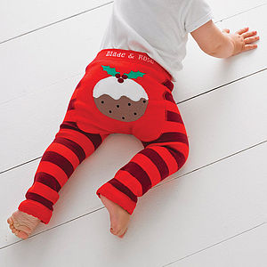 Christmas Pudding Leggings - trousers & leggings