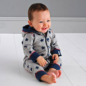 Hooded All In One Baby Suit - gifts for babies