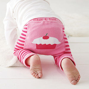 Cupcake Baby Leggings - baby's first christmas