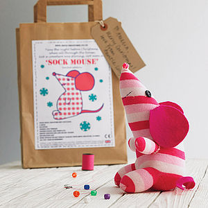 Sock Mouse Craft Kit - stocking fillers under £15