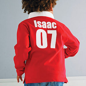 Personalised Child's Rugby Shirt - inspired christmas gifts