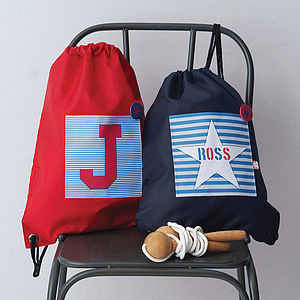 Boy's Personalised Waterproof Kit Bag - gifts for children