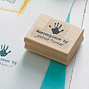 'Masterpiece By' Personalised Stamp