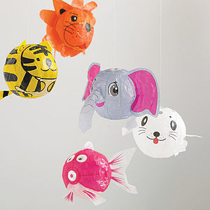 Set Of Four Japanese Paper Balloons - for their bedroom
