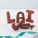 Patterned Milk Chocolate Letter