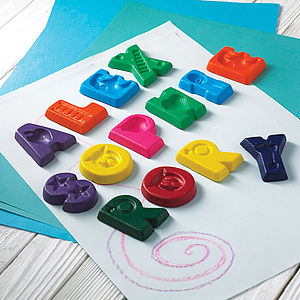 Personalised Name Crayons - stocking fillers for babies & children
