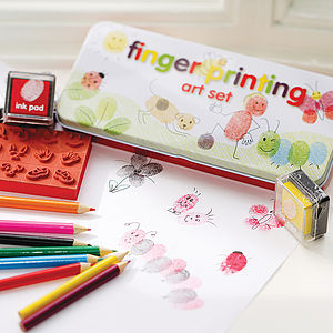Finger Printing Art Set - stocking fillers for babies & children