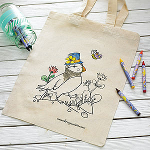 Colour In Tote Bag - stocking fillers for babies & children
