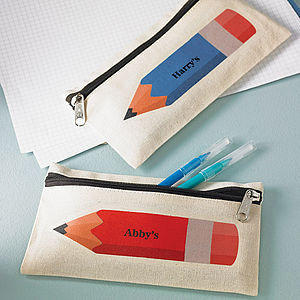 Personalised Coloured Pencil Case - best personalised gifts