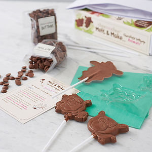 Chocolate Lollipop Making Kit - novelty chocolates