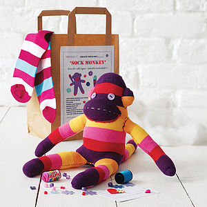 Sock Monkey Craft Kit - gifts for children
