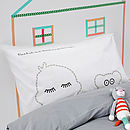 Teddy Pillowcase Sleepy Head Gift For Kids