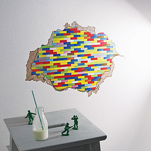 Building Blocks Wall Sticker - bedroom