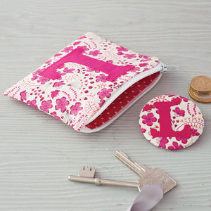 Initial Coin Purse And Mirror - secret santa gifts