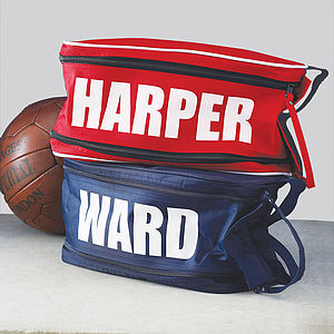 Personalised Boot Bag - best personalised gifts