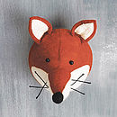 Decorative Felt Fox Head