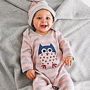 Striped Owl Sleepsuit