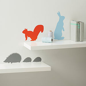 Three Packs Of Woodland Animals Wall Stickers - for over 5's