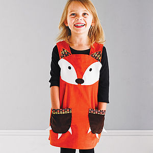 Girls Fox Dress - woodland trend