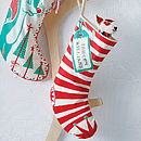 Personalised Happy Stripes Christmas Stocking