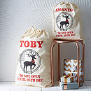 Personalised Reindeer Christmas Sack