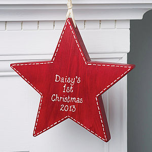 Personalised '1st Christmas' Star - tree decorations