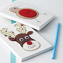 Thumb personalised embroidered christmas notebook