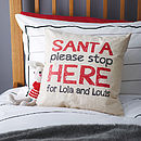 Personalised 'Santa Stop' Cushion
