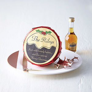 Personalised Christmas Pudding - gifts for families