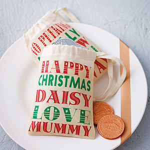 Personalised Mini Christmas Gift Bag - christmas craft ideas