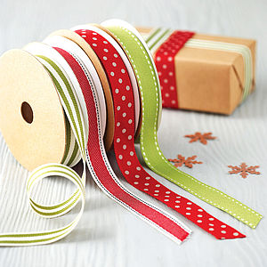 Christmas Ribbon 10 Metre Roll - traditional christmas