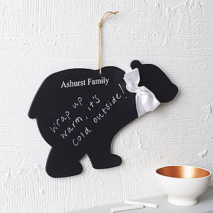 Personalised Polar Bear Chalkboard - shop by price