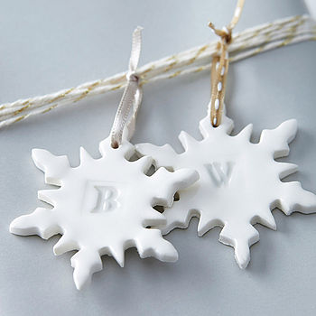 Alphabet Snowflake Christmas Decoration