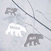 Polar Bear Personalised Christmas Decorations - baby & child