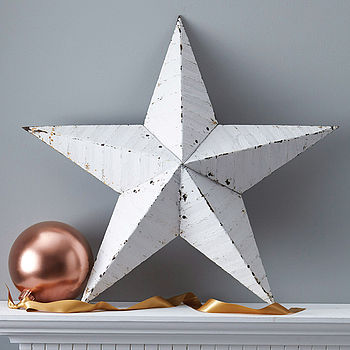 White Amish Metal Barn Star