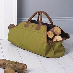 Log Carrier - winter homeware