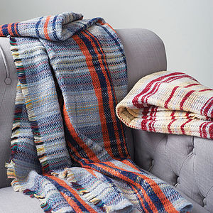 Checked Wool Blanket Or Throw