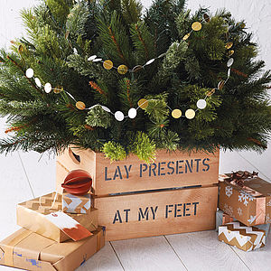 Personalised Christmas Tree Planter Crate - tree skirts & stands