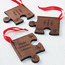 Personalised Christmas Jigsaw Decoration