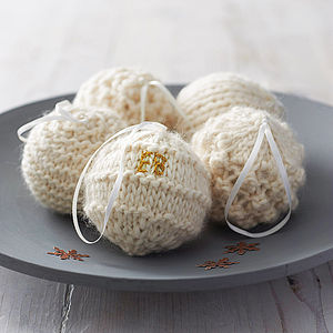 Personalised Cosy Knitted Christmas Bauble - view all sale items