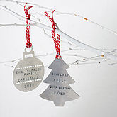 Personalised Family Christmas Decoration - gifts for babies & children