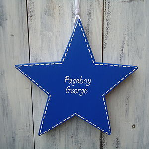 Pageboy Star With Stitching - page boy gifts